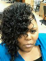medium black hair style deep waves fingerwaves