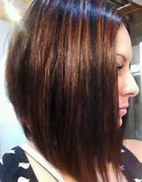 long bob haircut with side swept bangs