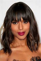 texture and bangs heavy bangs can look boxy when paired with a short ...