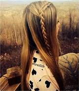 DIY Braided Hairstyles: Cute Long Straight Hair for Girls / Via