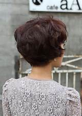 Layered Asian Hairstyles for Short Hair: Back View