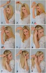 Crown Braid Tutorial Selection