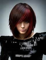 red bob hairstyle short hairstyles 2013 417x537 Colored Hair Styles