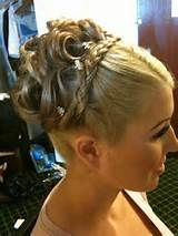 Maid of honor updo with braid