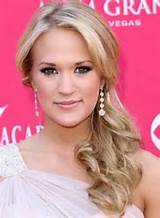 Carrie Underwood Low Side Swept Ponytail Hairstyle