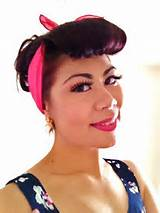 50s Pin Up Hairstyles With Bandana | Hairstyle Reference