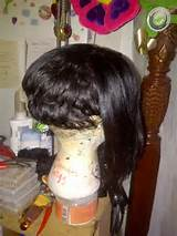 ... to create a bob cut hairstyle! long in the front short in the back
