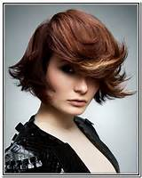 Choppy layered hairstyles with side swept bangs for short hair