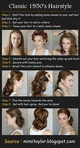 Pretty 50s hairstyle how-to