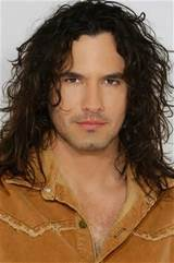 Curly long hair styles for men