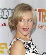 Rachael Harris Casual Updo Long Straight Hairstyle Side View