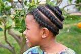 Easy Single Spiral Flat Rope Twist #NaturalHair #Hairstyle