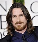 Very Long Men's Hairstyles, Christian Bale at the Oscars Long Hair