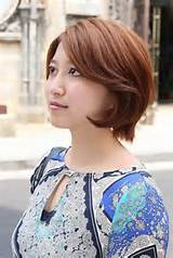 Short Asian Bob Hairstyle for Women – Side View of Layered Bob Cut