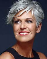 ... will also give you a cute look. Short grey hair styles for older women