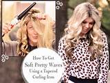 ... learn how to get soft pretty waves with a tapered curling iron. 1 of 5