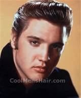 Elvis Presley quiff hairstyle for men.