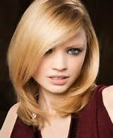 ... side swept bangs shoulder length hairstyles 2014 with choppy bangs