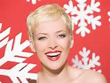 Snowflakes Woman Classy Super Short Hairstyles