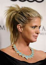 ... with a small bobby pin on the underside of the ponytail hairstyle