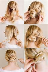 Easy, Chic Updo Hairstyle Tutorial/ Via