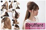 Bardot-ey ? Brigitte, that is. Try this ultra suave half up bouffant ...