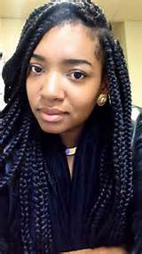 Big box braids. Via Angela Mann