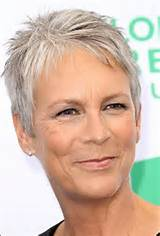 short pixie hairstyle for older women