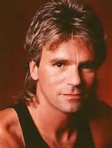 Image of MacGyver 80s Mullet Hairstyle.