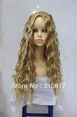Long Curly Blonde Color African American Hairstyle Full Wig(China ...