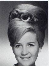 number of classic 1960s hairstyles, from the bouffant beehive ...