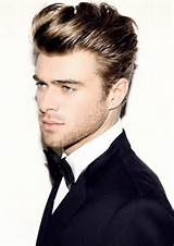Hairstyles for men with back swept bangs