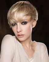 Bowl Super Short Hairstyles for Long Faces with Layers and Wispy Bangs
