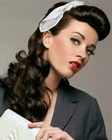 Vintage Hairstyles for Long Curly Hair