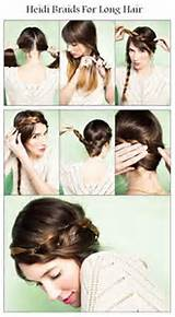 DIY Heidi Braids For Long Hair Hairstyle DIY Fashion Tips | DIY ...