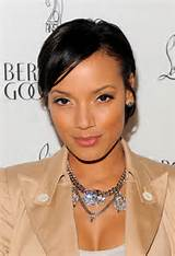 Selita Ebanks Short cut with sleek side-swept bangs