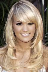 Long layered haircuts with side swept bangs pictures 2