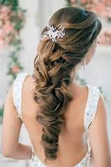 Prom Hairstyles for Long Hair Half Up Half Down photo