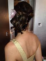 Maid of honor hairstyle all up hair updo
