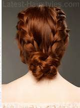 Updo Hairstyles Back View With side braids back view