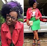 Trendy African American Curly Hairstyle with Colors for Black Women