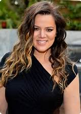 Khloe Kardashian With Ombre Hair.