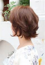 short asian hairstyles layered short wavy hairstyle for women