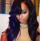 weave hairstyles with side part