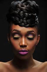 Natural hairstyles for black women can be a perfect base for wedding ...