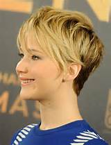 Jennifer Lawrence Short Haircut: Messy Pixie Hairstyles /Tumblr