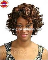 ... short hair styles remy jerry curl weave hair wigs for black women