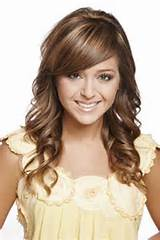 Medium Wavy Hairstyles With Side Swept Bangs 2015