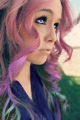 ... long hairstyle with bright colors /Tumblr @ hairstylesweekly.com