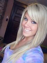 Blonde side swept bangs for long hair from @ juliannarhodes .